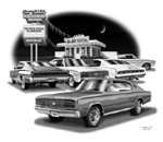 print 5004 1966 chargers feature cars 1966 hemi