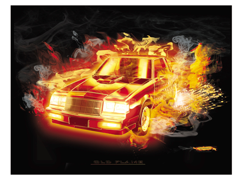"1987 Grand National ""Flash Fire"" Print"